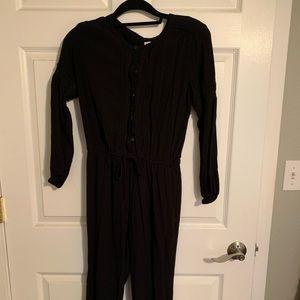 Black long sleeve jumpsuit